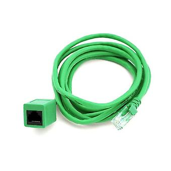 8Ware Rj45 Male To Female Cat5E Network Ethernet Cable 2M Green
