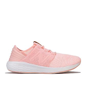 Junior Girls New Balance Foam Cruz Trainers In Pink- Lace Fastening- Cushioned