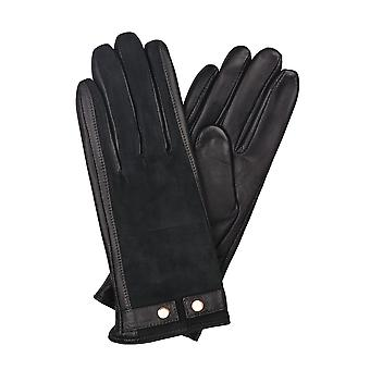 Libby Leather & Suede Gloves in Navy
