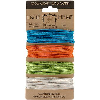 Hemp Cord 20# 30 Feet Pkg Bright Hc20 Br
