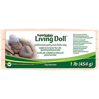 Super Sculpey Living Doll Ton 1 Pfund Baby Zsld 4