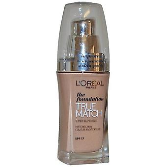 L ' Oreal True coincide con la Fundación Super Blendable SPF17 30ml rosa arena (R5-C5 Sable Rose)