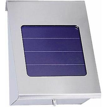 Solar outdoor wall light Cold white Esotec 102080-01 Shine Stainless steel
