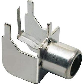 RCA connector Socket, horizontal mount Number of pins: 2 Silver BKL Electronic 072345 1 pc(s)