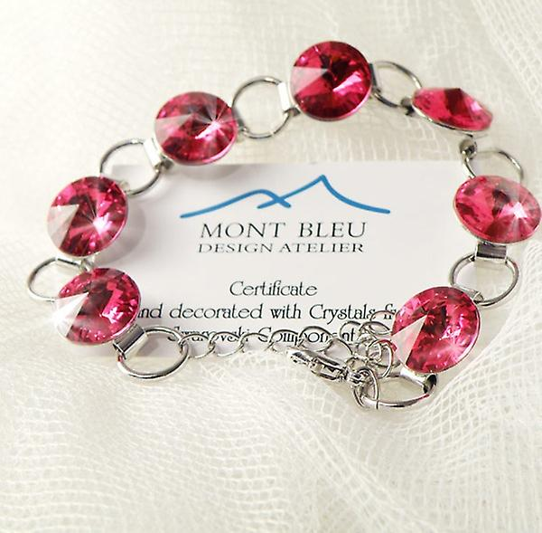 Red crystals bracelet BMB 2.5