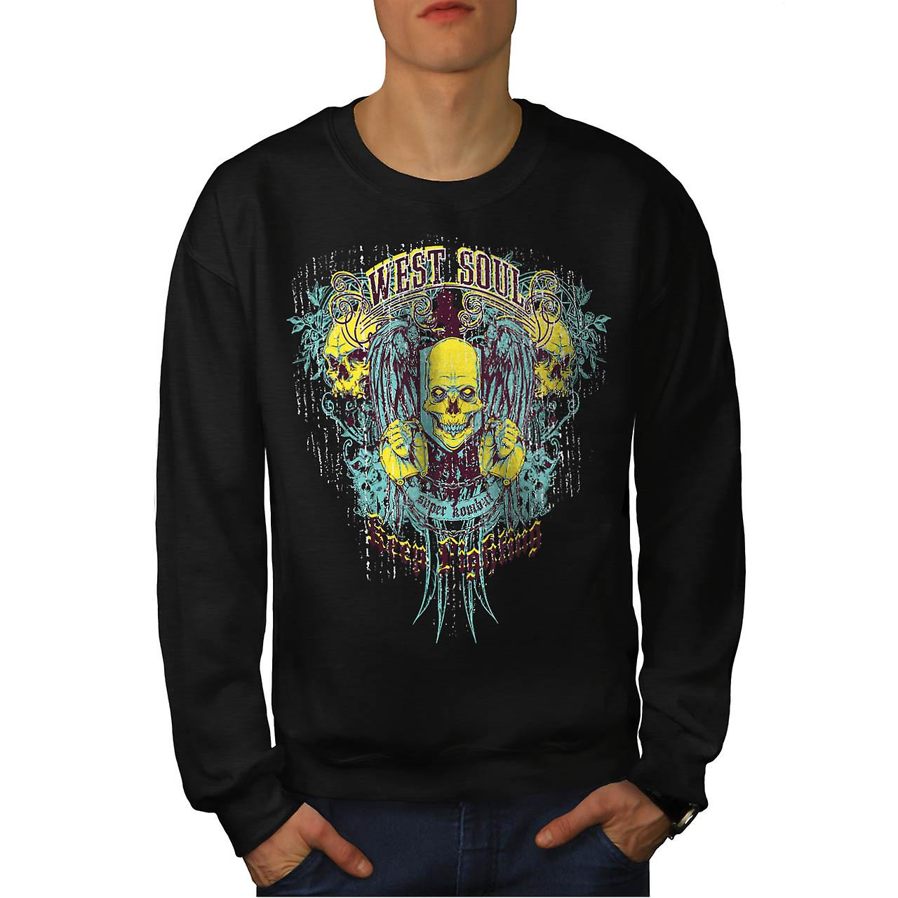West Soul Lightning Super Combat Men Black Sweatshirt | Wellcoda