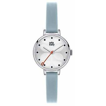 Orla Kiely Womans Blue Leather Strap White Dial OK2015 Watch