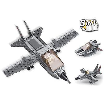 Sluban Army 3 In 1 Combat Aircraft Parts 125 (Toys , Constructions , Vehicles)