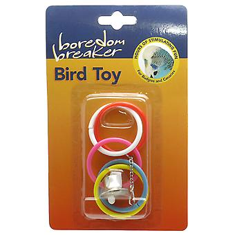 Boredom Breaker Budgie & Canary Olympic Rings W/bell (Pack of 6)