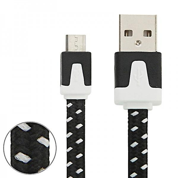 2m USB data and charging cable black for all Smartphone and Tablet micro USB