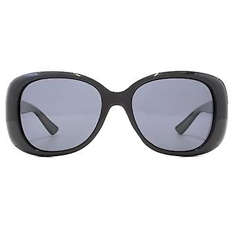 Polaroid Contemporary Oval Sunglasses In Black Polarised