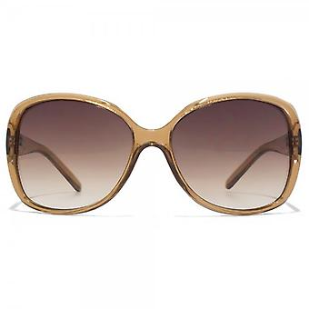Carvela Glam Diamante Sunglasses In Crystal Brown
