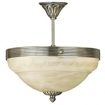 Eglo Marbella 3 lichte traditionele plafond licht Flush gepolijst overeenkomstig