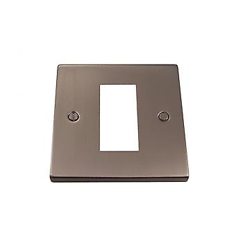 Causeway 1 bende enkele modulaire plaat, Satin Chrome