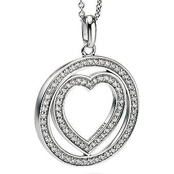 925 Silver zirconia Heart Necklace Fashionable