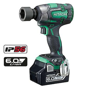 Hitachi WR18DBDL2/JX 18V Impact Wrench Kit IP54 piles 2 x 6.0ah