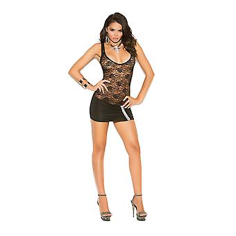 Elegant Moments  EM-8319 ace and lycra mini dress