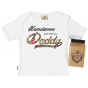 Spoilt Rotten Handsome Like Daddy Toddler T-Shirt 100% Organic In Milk Carton