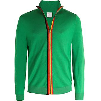 Paul Smith Merino Wool Zip-Through Cardigan
