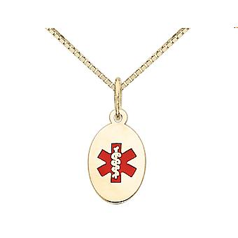 Medical Charm Pendant Necklace in 14K Yellow Gold with Chain