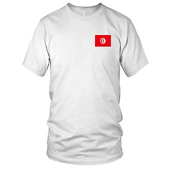 Tunesien-Land-Nationalflagge - Stickerei Logo - 100 % Baumwolle T-Shirt Damen T Shirt