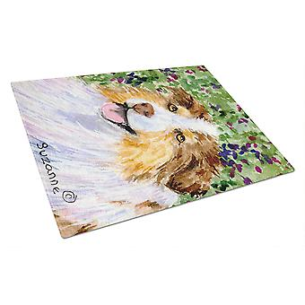Carolines Treasures  SS8819LCB Australian Shepherd Glass Cutting Board Large
