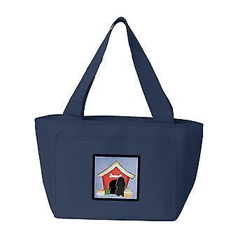 Carolines tesori BB2825NA-8808 cane casa collezione barboncino nero Lunch Bag