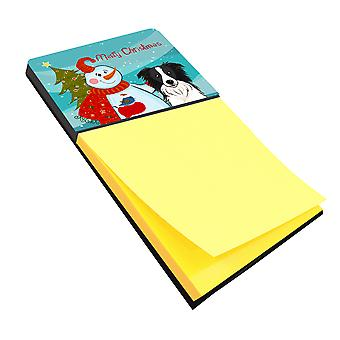 Carolines Treasures  BB1861SN Snowman with Border Collie Sticky Note Holder
