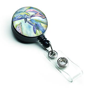 Carolines Treasures  8548BR Dolphin Retractable Badge Reel