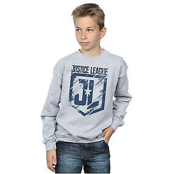 DC Comics Boys Justice League Movie Indigo Logo Sweatshirt