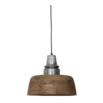 Light & Living Hanging Lamp Ø40x33cm MARGA Wood Weather Barn+top Ant.silver
