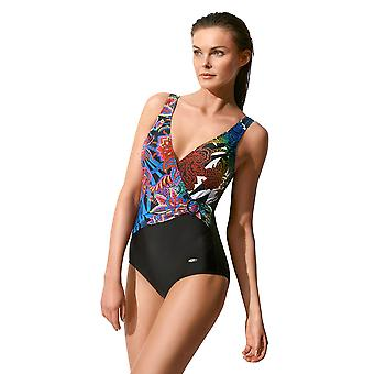 Susa 4168-156 Women's Multicoloured Floral Print Padded Non-Wired Swimsuit