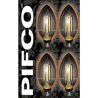 4 x PIFCO LED Vintage Retro ljus Globe GLS B22 B15 SES ES glödlampor