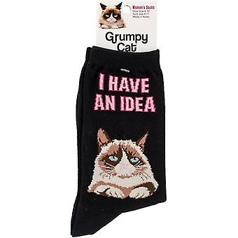 Grumpy Cat Crew Socks-I Have No Idea GCWF-7H001