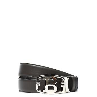 Bally men's BLINN356208385MARRONE brown leather belt