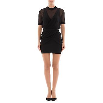 Balmain women's 103882870MC0100 black viscose dress