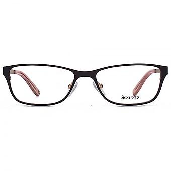 Accessorize Oval Flat Sheet Glasses In Black