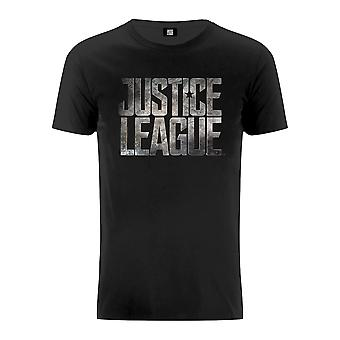 Justice League Unisex Movie Logo Black T-Shirt