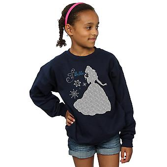 Disney Girls Princess Belle Christmas Silhouette Sweatshirt