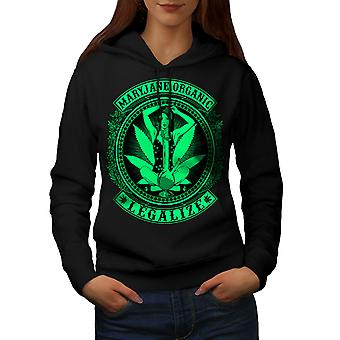 Organic Legalize Women BlackHoodie | Wellcoda