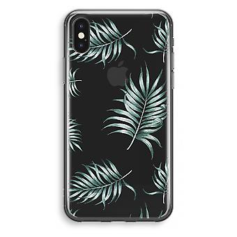 iPhone X Transparant Case - Simple leaves