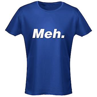 Meh Funny Geek Lazy Womens T-Shirt 8 Colours by swagwear