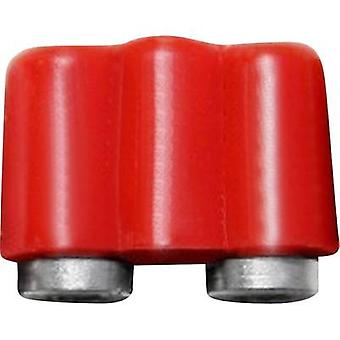 Mini jack socket Connector, straight Pin diameter: 2.6 mm Red BE
