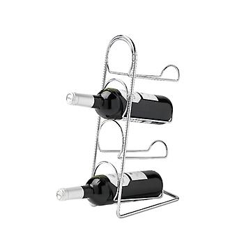 Pisa 4 Bottle Wine Rack, Chrome