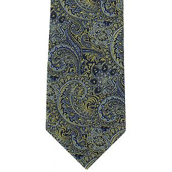 Michelsons of London Elaborate Paisley Polyester Tie - Yellow