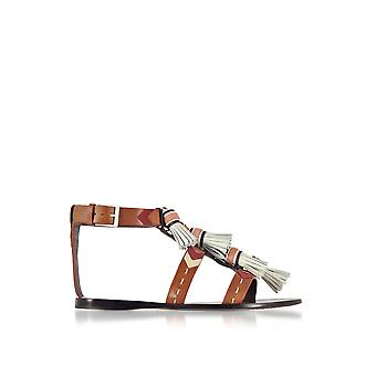 Tory Burch women's 51158685 brown leather sandals