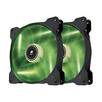 The Corsair Fan, SP140, Green LED High Pressure Fan, Dual pack