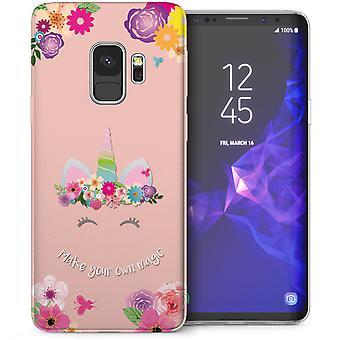 Samsung Galaxy S9 Unicorn gör din egen magiska TPU Gel Case - rosa