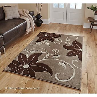 Menia Beige Brown Rug