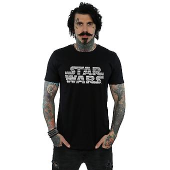 Star Wars Men's Aztec Logo Mono T-Shirt